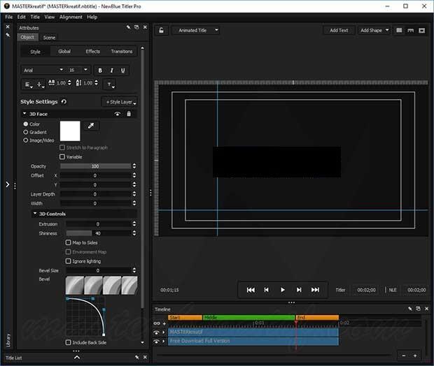 NewBlueFX Titler Pro 7 Ultimate Crack Full Key