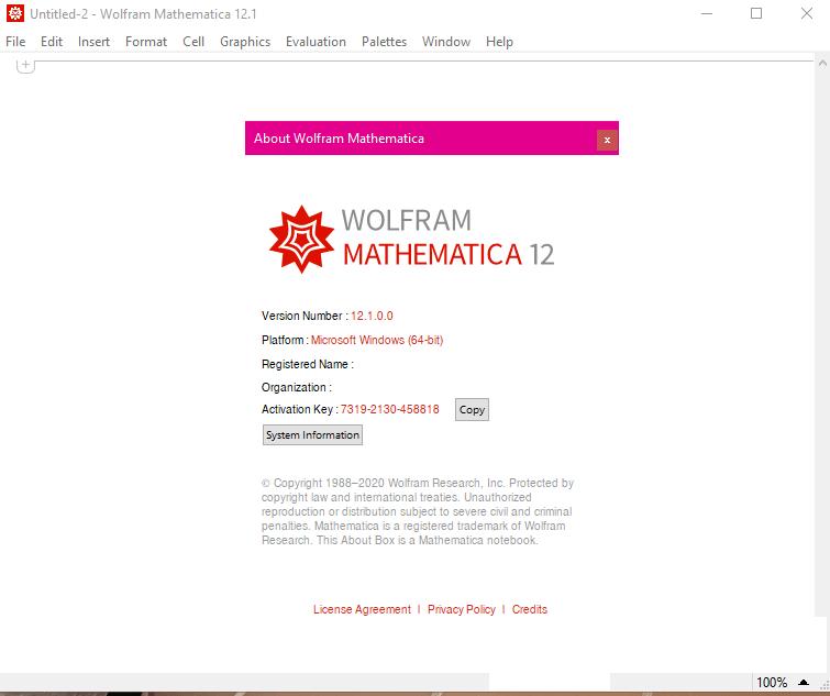 Wolfram Mathematica 12.3.1 Activation Key 2021
